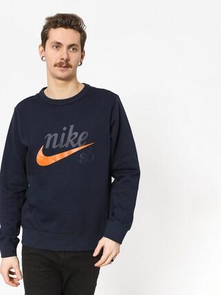 Nike SB Sb Top Icon Craft Hosszu00fa ujju00fa felsu0151 (obsidian/cinder orange)