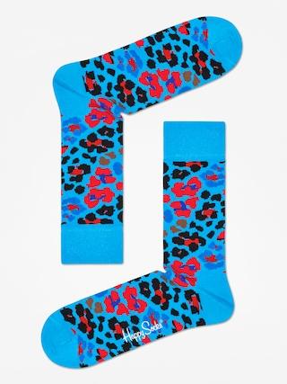 Happy Socks Leopard Zokni (blue/red/black)