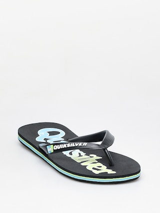 Quiksilver Molokai Wordmark Fineline Flip-flop papucsok (black/green/blue)