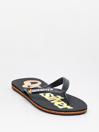 Quiksilver Molokai Wordmark Fineline Flip-flop papucsok (black/black/yellow)