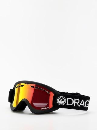 Dragon DXS Snowboard szemu00fcveg (black/lumalens red ion)