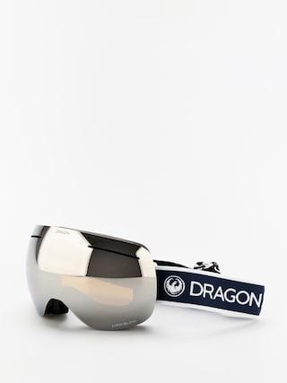 Dragon X1 Snowboard szemu00fcveg (designer/lumalens silver ion/lumalens flash blue)