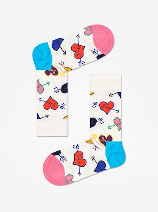 Happy Socks Linda And Johnny Ramone Zokni (natural/blue/pink)