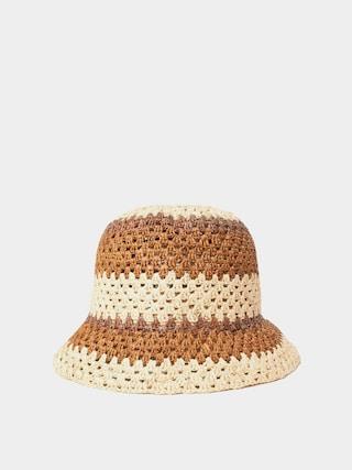 Brixton Essex Raffia Bucket Hat Wmn Kalap (tan/brown)