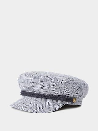 Brixton Fiddler ZD Flat cap (washed navy/white)
