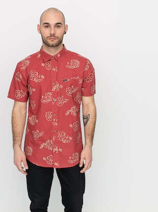 Brixton Charter Print Wvn Ing (lava red)