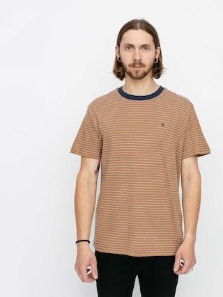 Brixton Hilt Knit Ujjatlan felsu0151 (coconut/washed navy/white)