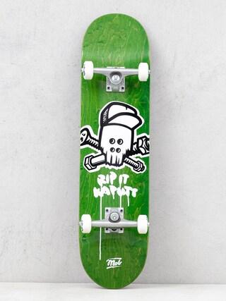 Mob Skateboards Skull Komplett gu00f6rdeszka (green)