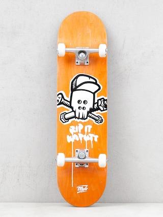 Mob Skateboards Skull Komplett gu00f6rdeszka (yellow)