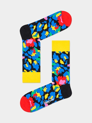 Happy Socks Leopard Zokni (yellow/blue)