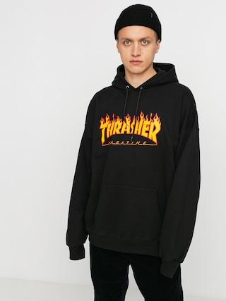 Thrasher Flame HD Kapucnis pulu00f3ver (black)