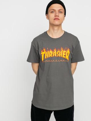 Thrasher Flame Logo Ujjatlan felsu0151 (charcoal grey)