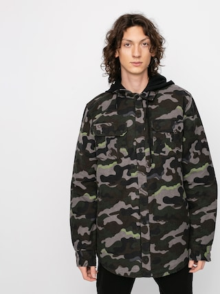 Volcom Field Ins Flannel Thermo pulu00f3ver (army)