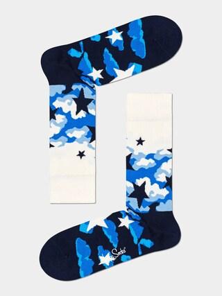 Happy Socks Stars Zokni (white/black)