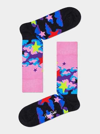 Happy Socks Stars Zokni (pink/black)