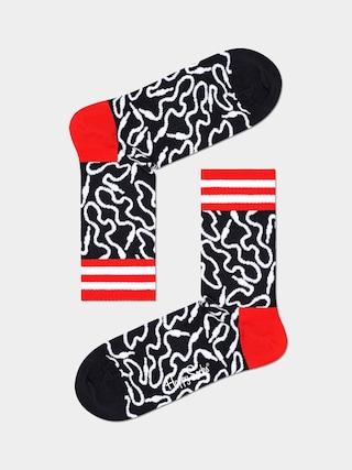 Happy Socks Wire 3/4 Zokni (black/white)