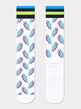 Happy Socks Shadow Flash Zokni (white)