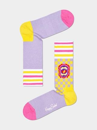 Happy Socks Roar Thin Zokni (pink)