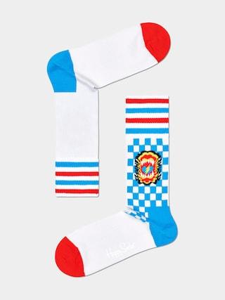 Happy Socks Roar Thin Zokni (white)