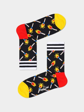 Happy Socks Matches 3/4 Zokni (black)