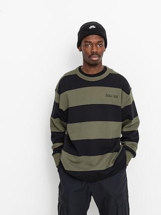 Nike SB Stripe Crew Pulu00f3ver (cargo khaki/black/black)