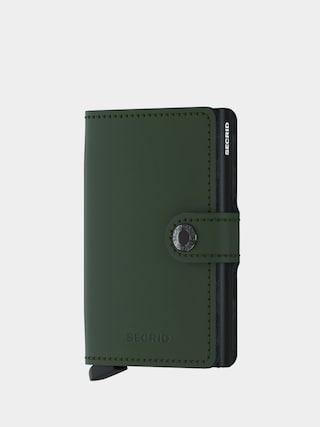 Secrid Miniwallet Pu00e9nztu00e1rca (matte green/black)