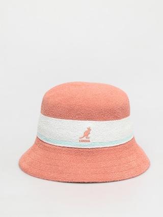 Kangol Bermuda Stripe Bucket Kalap (peach pink)