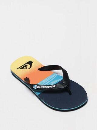 Quiksilver Molokai Hold Down Flip-flop papucsok (black/blue/blue)