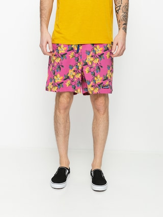 Patagonia Stretch Wavefarer Volley Shorts 16in Boardshort (squash blossom/marble pink)