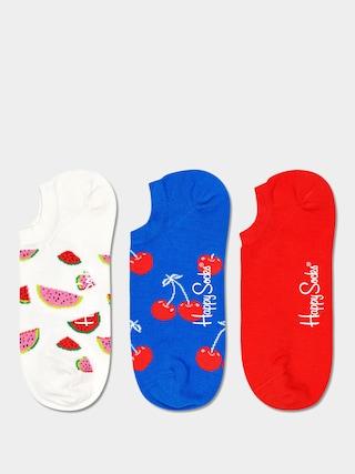 Happy Socks Fruit No Show 3pk Zokni (white/royal/red)