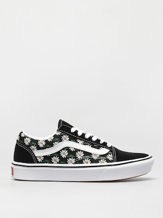 Vans Comfycush Old Skool Cipu0151k (scribble flower daisy/black)
