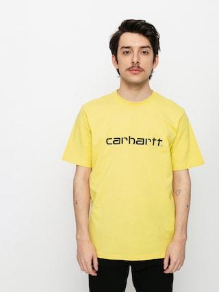 Carhartt WIP Script Ujjatlan felsu0151 (limoncello/black)