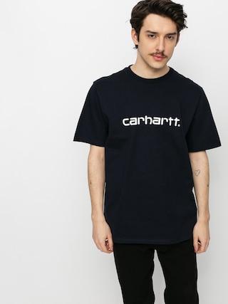 Carhartt WIP Script Ujjatlan felsu0151 (dark navy/white)