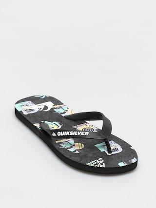 Quiksilver Molokai Island Pulse Flip-flop papucsok (black/grey/black)