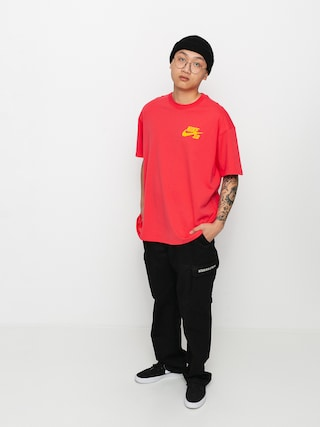 Nike SB Left Chest Script Ujjatlan felsu0151 (lt fusion red/university gold)