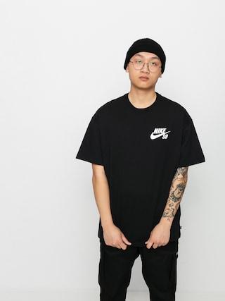 Nike SB Left Chest Script Ujjatlan felsu0151 (black/white)