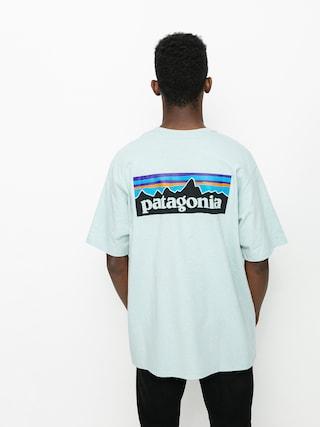 Patagonia P6 Logo Responsibili Ujjatlan felsu0151 (big sky blue)