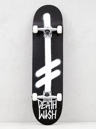 Deathwish Gang Logo Komplett gu00f6rdeszka (black/white)
