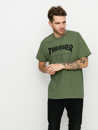 Thrasher Skate Mag Ujjatlan felső (army)