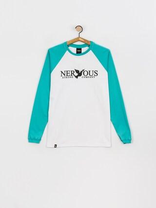Nervous Classic Hosszu00fa ujju00fa felsu0151 (aqua/white)