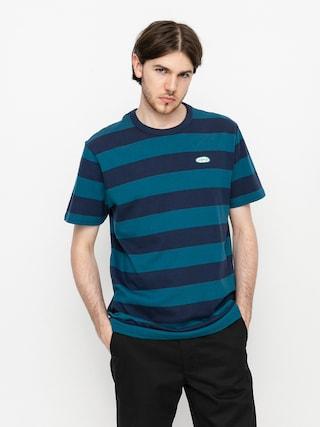 Vans Color Multiplier Stripe Crew póló (dress blues/blue coral)