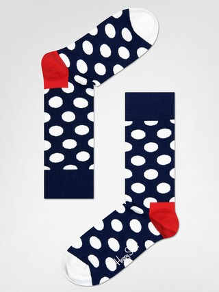 Happy Socks Big Dot Zokni (navy/red/white)