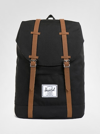 Herschel Supply Co. Retreat Hu00e1tizsu00e1k (black/tan synthetic leather)
