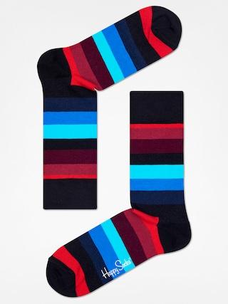 Happy Socks Stripe Zokni (black/red/blue)