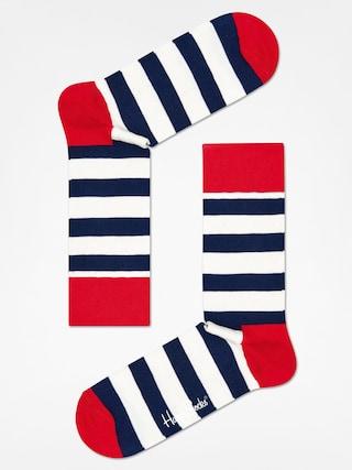 Happy Socks Stripe Zokni (red/navy/crem)