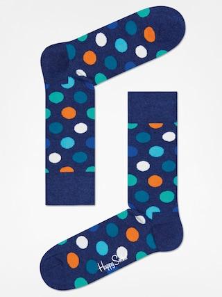 Happy Socks Big Dot Zokni (washed navy/navy)