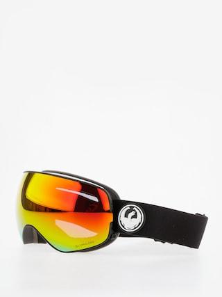 Dragon X2s Snowboard szemu00fcveg (black/lumalens red ion/l rose)