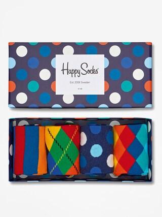 Happy Socks Giftbox 4pk Zokni (navy/blue/white)