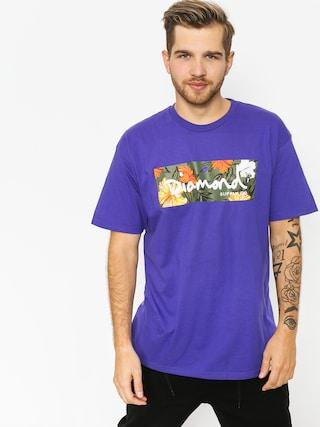 Diamond Supply Co. Aloha Floral Box Logo Ujjatlan felsu0151 (purple)